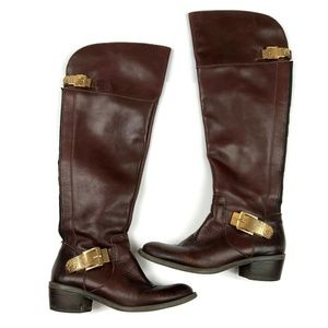 Vince Camuto Bocca brown riding boots knee high 6